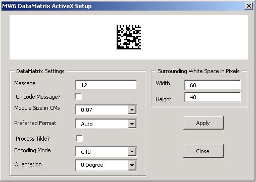 MW6 DataMatrix ActiveX Manual